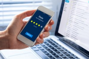 star rating on an app from customer