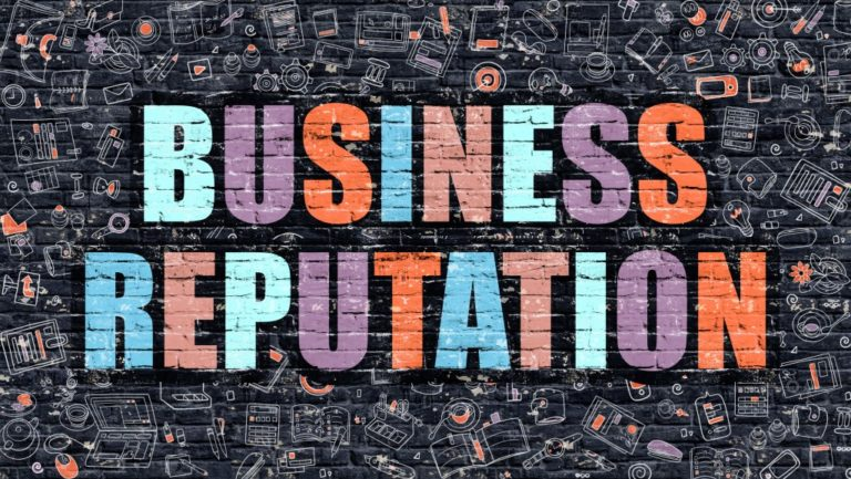 Business reputation concept