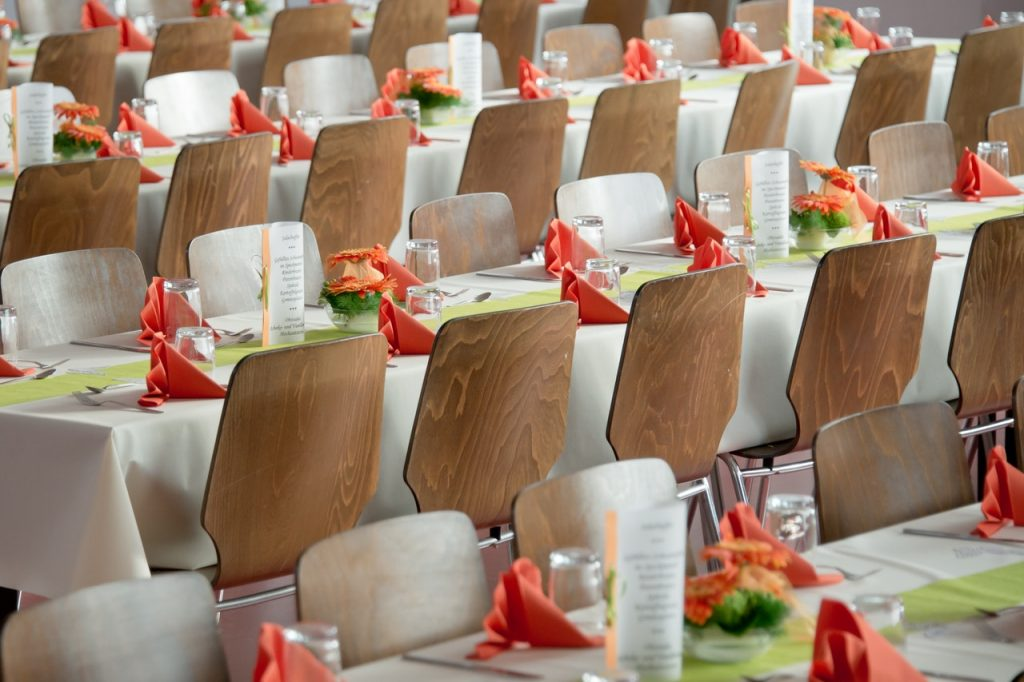 empty chairs at an event