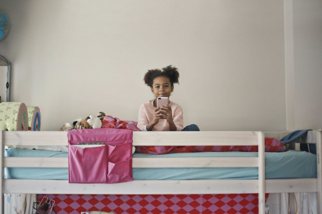 child on a bunkbed