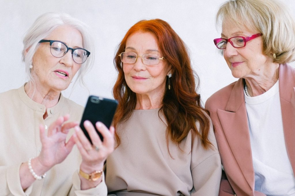 women using a phone