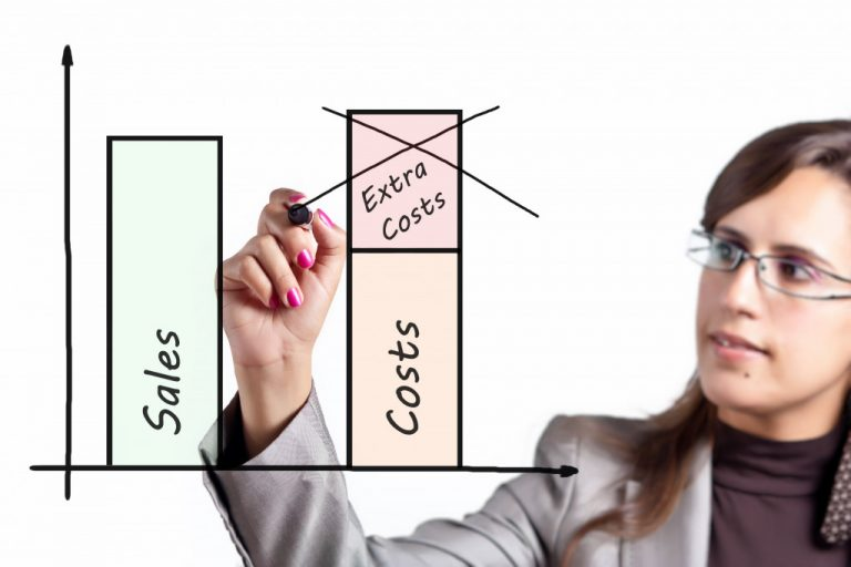 woman reducing cost using graphs