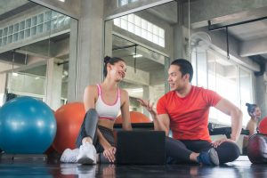 couple wearing active wear clothes